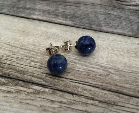 BLUE,LAPIS,Simple,Stud,Earrings,/,Lapis,Lazuli,Natural,Stone,Post,Ball,Semi,precious,under,5,dollars,Gift,Box,Jewelry,earrings,simple,stone_studs,ball_earrings,surgical_steel,under_5_dollars,gift_for_her,gemstone_earrings,semi_precious,made_in_Canada,stone_earrings,blue_lapis,lapis_lazuli