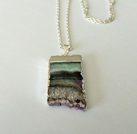 Silver,Framed,RAW,AMETHYST,Slice,NECKLACE,/,Stalactite,Pendant,Choose,Your,Stone,Amethyst,Druzy,Geode,February,Birthstone,Gift,Boxed,Jewelry,Necklace,raw_amethyst,amethyst_necklace,amethyst_crystal,amethyst_pendant,February_birthstone,natural_stone,purple,healing_properties,made_in_Canada,silver_framed,amethyst_stalactite,amethyst_druzy,amethyst_geode