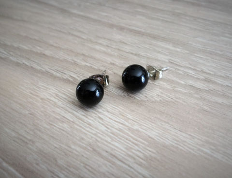 BLACK,ONYX,Simple,Stud,Earrings,/,Gemstone,Natural,Stone,Post,Ball,Stocking,stuffer,under,5,dollars,Gift,Box,Jewelry,earrings,stone_studs,ball_earrings,surgical_steel,under_5_dollars,gift_for_her,gemstone_earrings,semi_precious,made_in_Canada,stone_earrings,black_onyx,onyx_earrings,stocking_stuffer