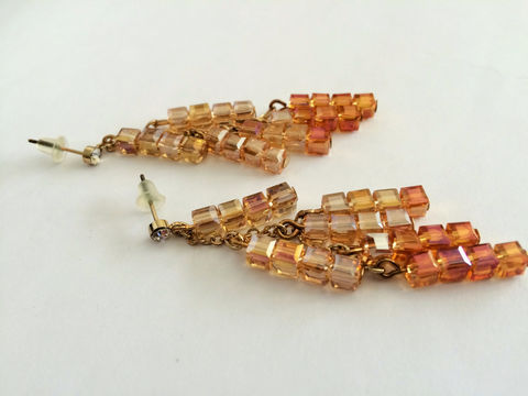 Cascading,OMBRE,CRYSTAL,EARRINGS,/,Topaz,and,Amber,Cube,Crystals,Long,Crystal,Beaded,Earrings,Gift,Boxed,Jewelry,rhinestone_earrings,crystal_earrings,chandelier_earrings,statement_jewelry,gorgeous_earrings,showstopper_earrings,made_in_canada,bjeweledvintage,ombre,topaz_amber,crystal_cubes,cascading,long_crystal_earring