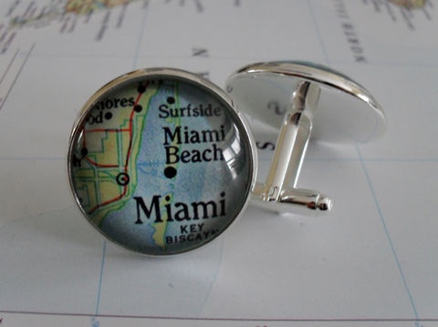 MIAMI,Map,CUFFLINKS,/,Father's,Day,Groomsmen,Gift,Personalized,for,Him,Silver,Cuff,Links,Jewelry,Boxed,Accessories,Cuff_Links,Hand_Made,Cufflinks,Fathers_Day_Gift,Groomsmen_Gift,Glass_Domed,Gifts_For_Him,Miami,Wedding,Cufflink,Unique_Gift,Miami_map_cufflinks,map_jewelry