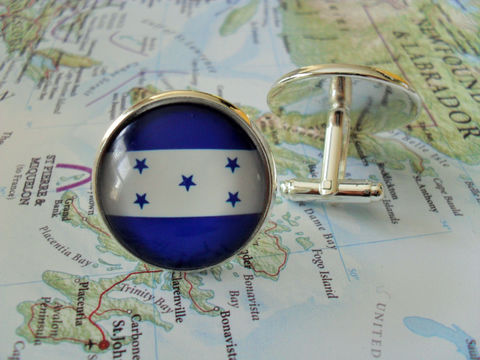 HONDURAN,FLAG,Silver,Cufflinks,/,National,Flag,of,HONDURAS,//,Father's,Day,Groomsmen,Gift,Patriotic,gift,boxed,Weddings,Jewelry,Fathers_Day_Gift,Groomsmen_Gift,National_Flag,Cufflink,Soccer,Honduras,Honduran,Flag_Cufflinks,Unique_Gift,flag_cuff_links,personalized_gift