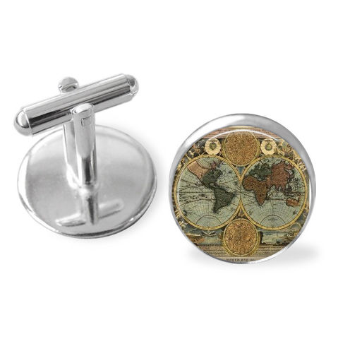 Antique,GLOBE,CUFF,LINKS,/,Old,World,Map,Cufflinks,Groomsmen,Gift,for,Him,Travel,theme,Pilot,Silver,boxed,Weddings,Jewelry,Canadian,Hand_Made,Vintage_Map,Fathers_Day_Gift,Groomsmen_Gift,Glass_Domed,Canteam,globe_cuff_links,world_map_cufflinks,gift_for_pilot,travel_theme_gift