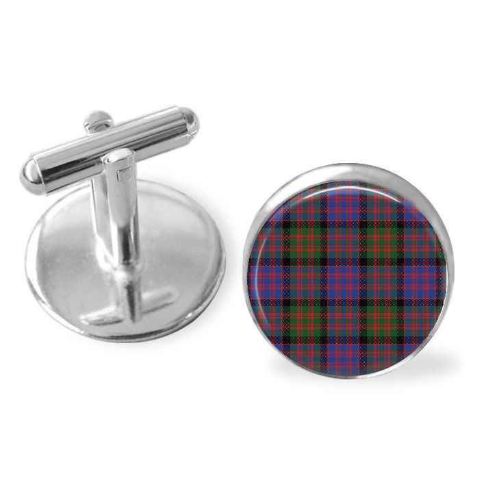 MACDONALD TARTAN CUFFLINKS / Scottish Tartan Cuff Links / Tartan Jewelry / Personalized Gift  / Ancestral Jewelry / MacDonald  Clan Plaid - product image