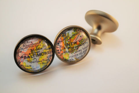 Custom,MAP,CABINET,KNOB,/,Map,Drawer,Pull,Glass,domed,nickel,or,bronze,finish,Any,Location,vintage,map,decor,housewarming,gift,Housewares,Kitchen,map_drawer_pull,map_cabinet_knob,custom_map_decor,map_dresser_knobs,glass_domed,map_gift_idea,housewarming_gift,made_in_Canada,you_pick_the_city,personalized_gift,unique_home_decor,knobs,nickel_silver_bronze