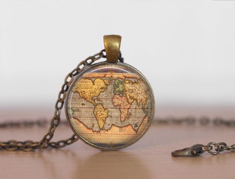 Ancient,WORLD,MAP,NECKLACE,/,Antique,Map,Pendant,Unique,Gift,for,Her,Jewelry,Globe,Vintage,brass,pendant,gift,box,Necklace,Unique_Gift,gift_boxed,full_moon_pendant,galaxy,canteam,made_in_Canada,world_map_necklace,world_map_pendant,ancient_world_map,vintage_map_necklace,old_globe_necklace,brass_map_necklace,whole_world_map
