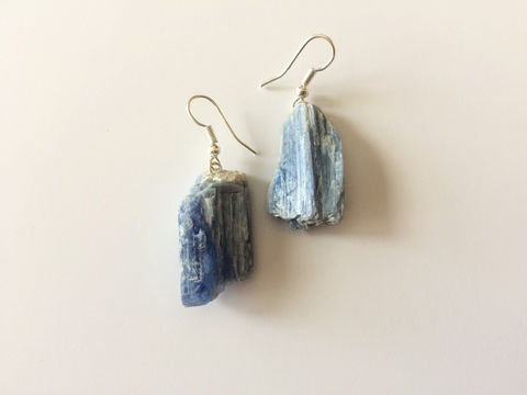 KYANITE,Earrings,/,Natural,Blue,Kyanite,Raw,Stone,Jewelry,Gift,Boxed,gift_for_her,gemstone_earrings,semi_precious,made_in_Canada,stone_earrings,raw_stone_earrings,uncut_stone_earrings,blue_kyanite,kyanite_earrings,raw_kyanite_earrings,kyanite_nuggets,blue_stone_earrings,natural_kyanite