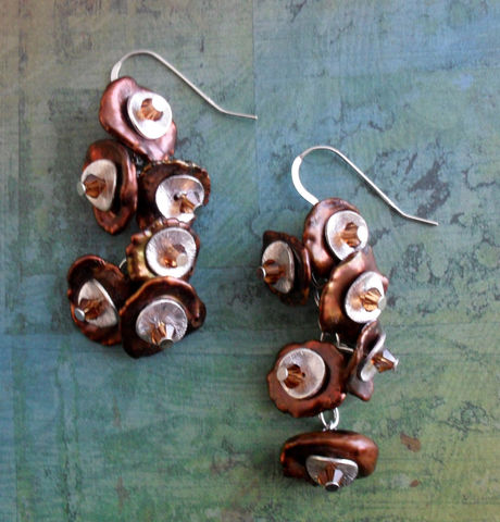 Chocolate,Keishi,Pearl,&,Swarovski,Crystal,Earrings,/,Rich,Brown,Sterling,Silver,Gift,Boxed,Jewelry,earrings,Canadian,Bjeweled_Vintage,Tammy_Bastin,designer,one_of_a_kind,hand_made,keishi_pearls,pearls,sterling_silver,chocolate,brown,swarovski