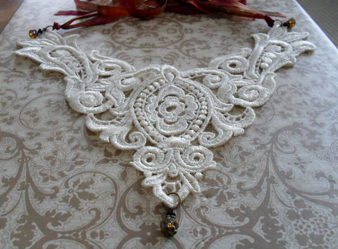 LACE,BIB,NECKLACE,/,Lace,Statement,Necklace,Ivory,Vintage,Venise,Victorian,Bridal,Upcycled,Jewelry,Venise_Lace,Statement_Necklace,Bib_Necklace,Ribbon,Ivory_Lace,Lace_Jewelry,Lace_Necklace,Lace_Bib_Necklace,Bridal_Necklace