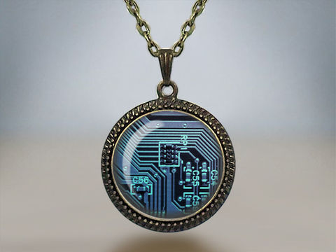 CIRCUIT,BOARD,PENDANT,Necklace,/,Unique,Gift,for,her,Computer,motherboard,Nerd,Green,Blue,Purple,or,Red,Geek,boxed,Jewelry,Glass_Domed,Unique_Gift,Gift_Boxed,computer_necklace,circuit_board,green_red_blue,pendant,nerd_gift,geek_gift,gift_for_her,tech_gift