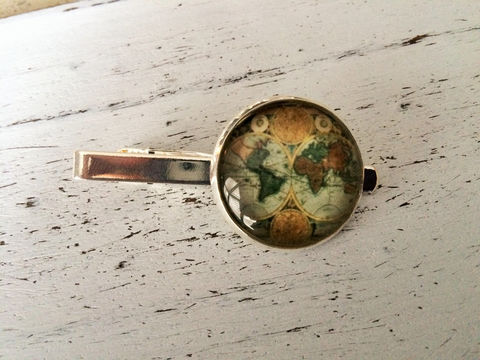 Antique,GLOBE,TIE,BAR,/,Old,World,Map,iebar,Classic,Gift,for,Him,Travel,theme,Pilot,Silver,boxed,Accessories,Hand_Made,Vintage_Map,Fathers_Day_Gift,Groomsmen_Gift,Glass_Domed,Canteam,gift_for_pilot,travel_theme_gift,world_map_tie_bar,made_in_canada,map_tie_bar_tiebar,globe_tie_clip