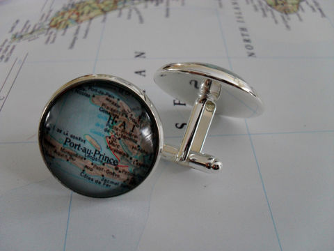 HAITI,MAP,CUFFLINKS,//,Father's,Day,Groomsmen,Gift,Cuff,links,for,Him,Custom,map,cufflinks,Groomsman,cufflink,wedding,Accessories,Cuff_Links,Hand_Made,Vintage_Map,Silver,Groomsmen_Gift,Map,Port_Au_Prince,Wedding,Haiti_Map_Cufflinks,Haiti,Custom_Map_Cufflinks,Unique_Gift,Map_Cufflinks,cuff_links