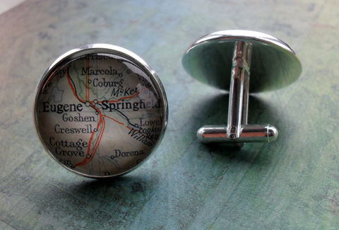 EUGENE,SPRINGFIELD,OREGON,Map,Silver,Cufflinks,//,Father's,Day,groomsmen,gift,Unique,Gift,for,him,cuff,links,jewelry,Weddings,Jewelry,Canadian,Hand_Made,Fathers_Day_Gift,Groomsmen_Gift,Gift_For_Him,Custom,Eugene,Springfield,Oregon,Unique_Gift,map_cuff_links