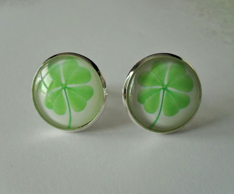 Lucky,Shamrock,Silver,Cufflinks,/,4,Leaf,Clover,cuff,links,Gift,for,Him,2,Sizes,St.,Patrick's,Day,Irish,Accessories,Cuff_Links,Groomsmen_Gift,Glass_Domed,Gifts_For_Him,Unique_Gift,4_Leaf_Clover,St_Paddys_Day_Gift,St_Patricks_Day_Gift,Canteam,shamrock_cufflinks,Irish_cuff_links