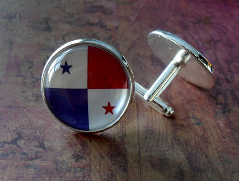 PANAMANIAN,FLAG,Silver,Cufflinks,/,National,Flag,of,PANAMA,Father's,Day,Groomsmen,Gift,Wedding,Patriotic,Cuff,Links,Boxed,Weddings,Jewelry,Groomsmen_Gift,National_Flag,World_Cup,Soccer,Football,Fan_Wear,Country,Panamanian_Flag,Panama,Unique_Gift
