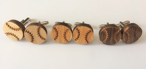 REAL,WOOD,CUFFLINKS,/,Baseball,Cuff,Links,Gift,for,Player,Choice,of,Stain,Color,5th,anniversary,/Gift,Boxed,Accessories,Cuff_Links,Hand_Made,Wood_Cufflinks,wooden_cufflinks,mens_cufflinks,bamboo_cufflinks,stained_wood,outdoorsman_gift,5th_anniversary,baseball_cufflinks,baseball_player,ball_player_gift,baseball_cuff_links,sports_cufflinks