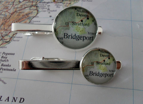BRIDGEPORT,CONNECTICUT,MAP,Silver,Tie,Bar,/,Groomsmen,Gift,for,Him,Clip,Clasp,Slide,Custom,map,Map,jewelry,Accessories,Groomsmen_Gift,Tie_Bar,Tie_Slide,Tie_Clasp,Tie_Clip,Vintage,Bridgeport,Bridgeport_Tie_Bar,Bridgeport_Tiebar,Custom_Map_Tiebar,Map_Jewelry