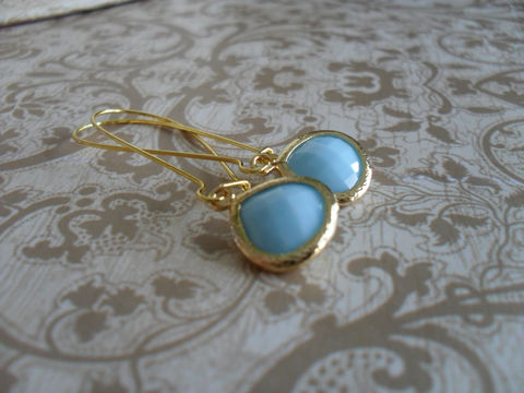 Opaque,SKY,BLUE,Glass,Drop,EARRINGS,/,Light,Blue,Earrings,Faceted,Gold,Framed,Dangle,Bridesmaid,Simple,Jewelry,Wedding,Nickel_Free,Faceted_Glass,Framed_Glass,Bridesmaid_Jewelry,Bridesmaid_Earrings,Light_Blue_Earrings,Glass_Drop_Earrings,Blue_Glass_Earrings,Sky_Blue_Earrings