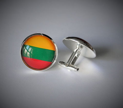 LITHUANIAN,FLAG,Silver,Cuff,Links,//,Flag,of,Lithuania,Country,Groomsman,gift,Father's,Day,Gift,Patriotic,National,Weddings,Jewelry,Hand_Made,Cufflinks,Fathers_Day_Gift,Groomsmen_Gift,National_Flag,Lithuanian_Flag,Unique_Gift,Canteam,cool_cufflinks