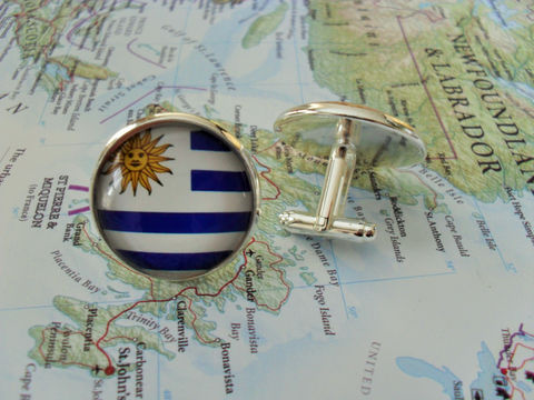 URUGUAYAN,FLAG,Silver,Cufflinks,/,National,Flag,of,URUGUAY,Father's,Day,Groomsmen,Gift,Patriotic,Cuff,Links,jewelry,gift,box,Accessories,Cuff_Links,Fathers_Day_Gift,Groomsmen_Gift,National_Flag,Cufflink,Flag_Cufflinks,Unique_Gift,flag_jewelry,flag_cuff_links,uruguay_flag,uruguay_cufflinks,patriotic_cuff_links,bjeweled_vintage,country_flag