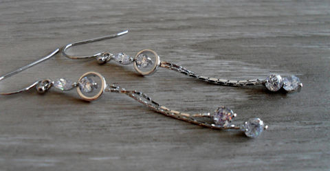 Delicate,Bridal,Earrings,//,STUNNING,Cubic,Zirconia,LONG,Silver,Dangle,EARRINGS,Wedding,Prom,Gift,for,Her,boxed,Jewelry,Nickel_Free,Simple,Hypoallergenic,Hand_Made,Cubic_Zirconia,Bridal_Earrings,Rhinestone_Earrings,Bridesmaid_Earrings,Unique_Gift,made_in_canada