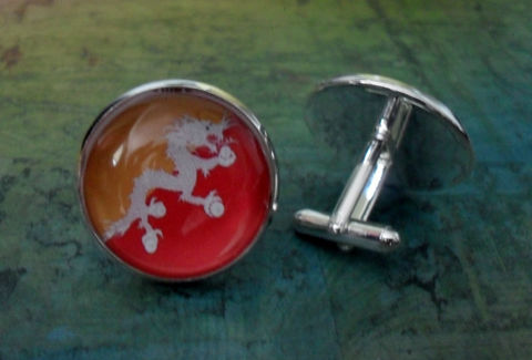 Kingdom,of,BHUTAN,FLAG,Silver,Cufflinks,//,Bhutanese,Flag,Father's,Day,Groomsmen,Gift,Wedding,Patriotic,cuff,links,boxed,Accessories,Cuff_Links,Fathers_Day_Gift,Groomsmen_Gift,Glass_Domed,National_Flag,Bhutan,Map_Cufflinks,Flag_Cufflinks,Country_Cufflinks,Unique_Gift