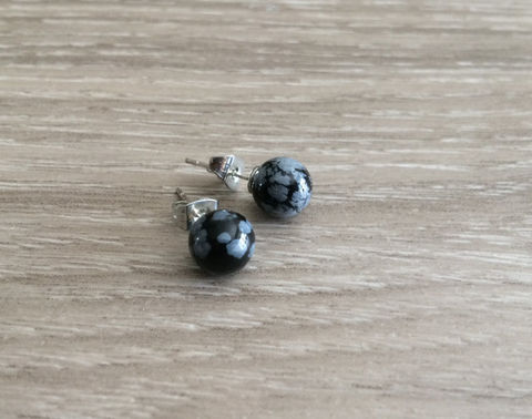 Snowflake,Obsidian,Simple,Stud,Earrings,/,Natural,Stone,Post,Ball,Stocking,stuffer,under,5,dollars,Gift,Box,Jewelry,earrings,post_earrings,stone_studs,snowflake_obsidian,ball_earrings,surgical_steel,under_5_dollars,gift_for_her,gemstone_earrings,semi_precious,made_in_Canada,stone_earrings