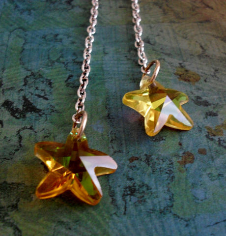 STAR,EARRINGS,/,Gorgeous,Golden,Yellow,Crystal,Stars,Sterling,Silver,Drop,Earrings,Unique,gift,Starfish,boxed,Jewelry,Bjeweled_Vintage,One_Of_A_Kind,Hand_Made,Mothers_Day,Sterling_Silver,Crystal_Stars,Golden_Yellow,Unique_Gift,Star_Earrings,Yellow_Star_Earrings,Starfish_Earrings,Canteam,starfish_charm