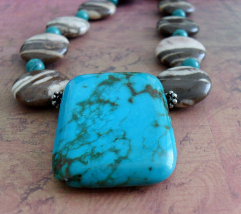 Zebra,JASPER,,,TURQUOISE,&,Bronze,PEARL,Beaded,Necklace,/,Natural,Stone,Semi,Precious,Statement,Unique,Gift,?,Boxed,Jewelry,Canadian,One_Of_A_Kind,Hand_Made,Turquoise,Striped,Zebra_Jasper,Sterling,Statement_Necklace,Semi_Precious_Stone,unique_gift_for_her,beaded_necklace,natural_stone