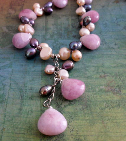 Lavender,Malaysian,JADE,&,Freshwater,PEARL,Beaded,NECKLACE,/,Mauve,Pastel,Intricate,Necklace,Unique,Gift,For,Her,Boxed,Jewelry,Canadian,Bjeweled_Vintage,One_Of_A_Kind,Hand_Made,Jade,Purple,Peacock,Freshwater_Pearl,Unique_Gift,Canteam,beaded_necklace