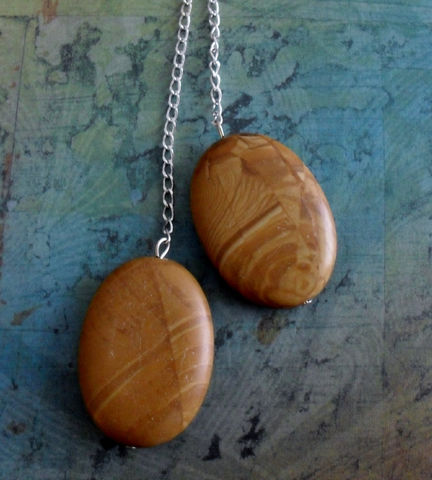Tigerskin,JASPER,Lariat,/,Tie,NECKLACE,Simple,Minimalist,Unique,Gift,for,her,boxed,Jewelry,Necklace,Canadian,Designer,One_Of_A_Kind,Hand_Made,Tie_Necklace,Gemstone,Nugget,Tigerskin_Jasper,Peanut_Butter_Jasper,Unique_Gift,Canteam,lariat_necklace
