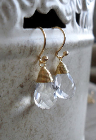 Gold,Wire,Wrapped,CLEAR,CRYSTAL,Drop,EARRINGS,/,Tear,Crystal,Dangle,Simple,Sparkling,faceted,Bridesmaid,Earrings,Gift,Box,Weddings,Jewelry,Nickel_Free,Wire_Wrapped,Hypoallergenic,Hand_Made,Wedding,Clear_Crystal,Tear_Drop,Bridesmaid_Earrings,Gold_Crystal_Earring,Crystal_Earrings