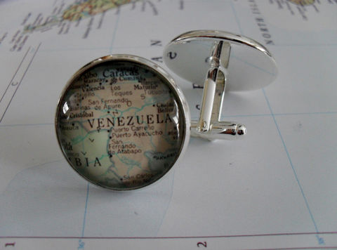 VENEZUELA,Map,Silver,CUFFLINKS,/,Father's,Day,groomsmen,gift,cuff,links,jewelry,Gift,for,him,//,boxed,Weddings,Jewelry,Cufflinks,Groomsmen_Gift,Custom,Gift_For_Him,Caracas,Venezuela,Wedding,Cuff_Link,map_cufflinks,map_jewelry,cool_cufflinks