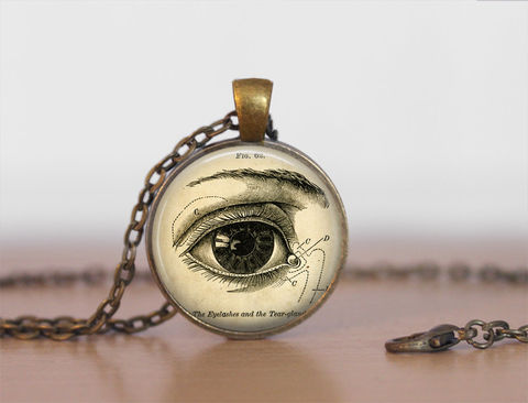 VINTAGE,ANATOMY,EYE,Pendant,Necklace,/,The,eye,Gift,for,Her,For,Ophthalmologist,Optometrist,Optician,Antique,Brass,Jewelry,Unique_Gift,Gift_For_Dentist,Vintage_Anatomy,Canteam,gift_boxed,antique_brass,eye_pendant,eye_illustration,human_eye_necklace,optometry_gift,optometrist_optician,ophthalmologist_gift,eye_doctor_gift