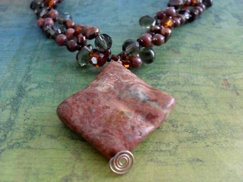 JASPER,,Smoky,QUARTZ,,Crystal,&,PEARL,Beaded,Necklace,/,Natural,Stone,Semi,Precious,Unique,Gift,for,Her,Boxed,Jewelry,Canadian,One_Of_A_Kind,Hand_Made,Jasper,Brecciated_Jasper,Smoky_Quartz,Sterling_Silver,Freshwater_Pearls,Unique_Gift,Canteam,natural_stone,beaded_necklace
