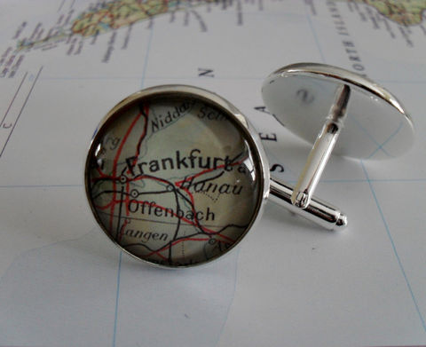 FRANKFURT,Germany,Map,Silver,CUFF,LINKS,/,Father's,Day,Groomsmen,Gift,Anniversary,cool,gift,for,him,jewelry,Boxed,Weddings,Jewelry,Hand_Made,Cufflinks,Vintage_Map,Fathers_Day_Gift,Groomsmen_Gift,Frankfurt,Wedding,Map_Cufflinks,Frankfurt_Cufflinks,Unique_Gift,cool_cufflinks