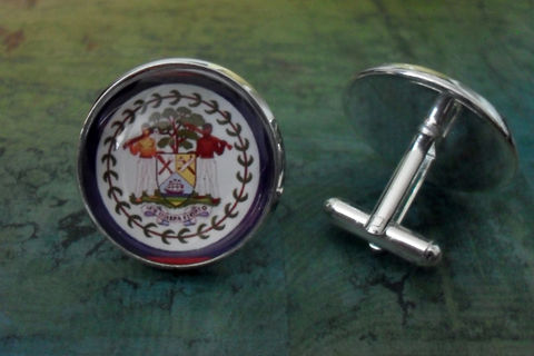 BELIZE,FLAG,Silver,Cufflinks,/,Father's,Day,Groomsmen,Gift,Wedding,Patriotic,cuff,links,cufflink,national,flag,jewelry,gift,box,Weddings,Jewelry,Hand_Made,Groomsmen_Gift,Glass_Domed,National_Flag,Belize,Map_Cufflinks,Flag_Cufflinks,Belize_Cufflinks,Country_Cufflinks,Unique_Gift