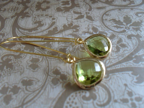 Apple,Green,Glass,Drop,EARRINGS,//,Faceted,Gold,Framed,Dangle,Bridesmaid,Earrings,Bridal,Simple,Gift,Boxed,Jewelry,Wedding,Nickel_Free,Faceted_Glass,Framed_Glass,Bridesmaid_Jewelry,Apple_Green,Lime_Green,Bridesmaid_Earrings,Lime_Green_Earrings,Wedding_Earrings