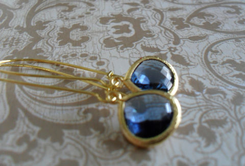 BLUE,Glass,Drop,EARRINGS,/,Midnight,Blue,Montana,Faceted,Gold,Framed,Dangle,Bridesmaid,Earrings,Simple,Weddings,Jewelry,Nickel_Free,Faceted_Glass,Framed_Glass,Bridesmaid_Jewelry,Midnight_Blue,Montana_Blue,Bridesmaid_Earrings,Drop_Earrings,Blue_Earrings,Wedding_Earrings