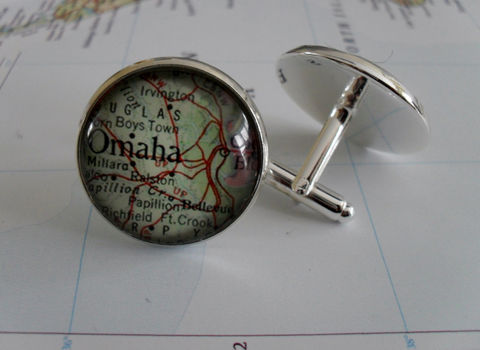 OMAHA,Nebraska,Map,Silver,CUFF,LINKS,/,Omaha,map,Cufflinks,Groomsmen,Gift,personalized,gift,for,him,custom,cufflinks,jewelry,Weddings,Jewelry,Canadian,Hand_Made,Vintage_Map,Fathers_Day_Gift,Groomsmen_Gift,Unique_Gift,Omaha_map_cufflinks,Nebraska_cuff_links,custom_map_cufflinks,map_jewelry,personalized_gift