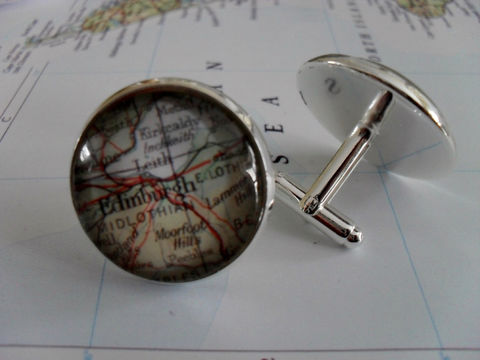 EDINBURGH,Scotland,Map,Silver,CUFF,LINKS,/,Father's,Day,Groomsmen,Gift,Anniversary,gift,for,him,Cufflink,map,jewelry,boxed,Weddings,Jewelry,Hand_Made,Cufflinks,Vintage_Map,Fathers_Day_Gift,Groomsmen_Gift,Edinburgh,Wedding,Map_Cufflinks,Unique_Gift,map_jewelry