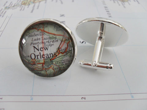 NEW,ORLEANS,Louisiana,Map,CUFFLINKS,/,New,Orleans,Cuff,Links,Jewelry,Destination,Gift,Groomsmen,Personalized,for,Him,Weddings,Canadian,Vintage_Map,Silver,Groomsmen_Gift,Glass_Domed,New_Orleans,Map_Cufflinks,Map_Cuff_Links,New_Orleans_Map,Custom_Map_Cufflinks,Map_Jewelry,Personalized_Gift