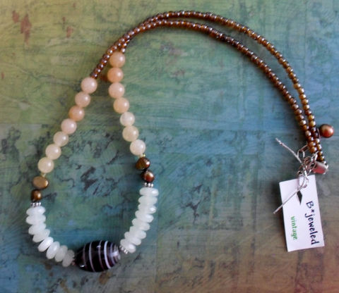Striped,Agate,,Jade,&,Pearl,BEADED,GEMSTONE,NECKLACE,/,Semi,Precious,Stone,Necklace,Natural,Unique,Gift,For,Her,Boxed,Jewelry,Canadian,One_Of_A_Kind,Hand_Made,Silver,Gemstone,Agate,Fresh_Water_Pearl,Sterling,Canteam,unique_gift_for_her,beaded_necklace,natural_stone