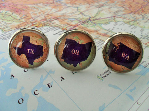 STATE,MAP,CUFFLINKS,/,Groomsmen,Gift,Any,State,2,Sizes,Cuff,Links,Wedding,cufflinks,Personalized,gift,Map,jewelry,boxed,Weddings,Jewelry,Cufflinks,Fathers_Day_Gift,Groomsmen_Gift,State_Map,Groomsmen_Gifts,State_Cufflinks,Unique_Gift,Map_Cufflinks,map_jewelry,cool_cufflinks,wedding_cufflinks,silver_cufflink