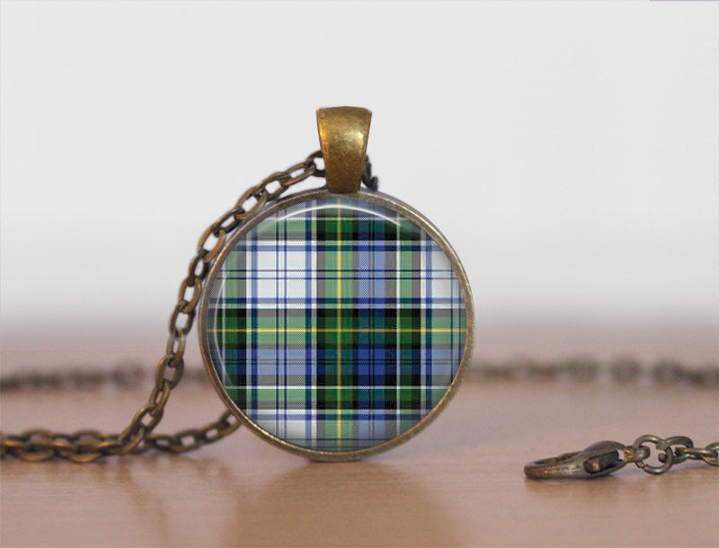 CAMPBELL TARTAN Pendant Necklace / Scottish Tartan Jewelry / Ancestral Jewellery / CAMPBELL Clan /  Family Jewelry / Personalized Gift - product images