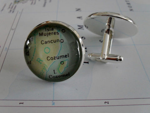 Cancun,,Cozumel,MEXICO,Map,Silver,CUFF,LINKS,/,groomsmen,gift,jewelry/,Destination,cufflinks,Gift,under,20,dollars,for,him,boxed,Accessories,Cuff_Links,Canadian,Bjeweled_Vintage,Hand_Made,Groomsmen_Gift,Custom,Gift_For_Him,Cancun,Unique_Gift,map_cufflinks,destination_cufflink,under_20_dollars