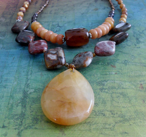 GORGEOUS,Mixed,Gemstone,BEADED,NECKLACE,/,Semi,Precious,One,of,a,Kind,Natural,Stone,Sterling,Silver,Pearl,Agate,Gift,for,Her,Jewelry,Necklace,Canadian,One_Of_A_Kind,Hand_Made,Fresh_Water_Pearl,Jasper,Aragonite,Canteam,sterling_silver,stone_necklace,beaded_necklace,natural_stone
