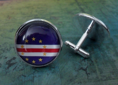 CAPE,VERDE,Flag,Silver,Cufflinks,/,Cape,Verdean,Father's,Day,Groomsmen,Gift,Wedding,Patriotic,cuff,links,gift,boxed,Weddings,Jewelry,Hand_Made,Vintage_Map,Groomsmen_Gift,National_Flag,Cape_Verde,Cabo_Verde,Map_Cufflinks,Flag_Cufflinks,Country_Cufflinks,Unique_Gift