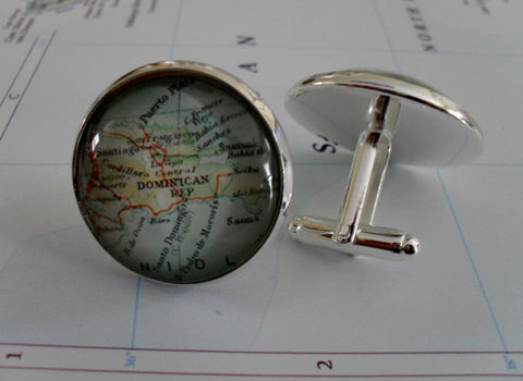DOMINICAN,REPUBLIC,Map,Silver,CUFFLINKS,/,Father's,Day,Groomsmen,Gift,for,Him,Cuff,Links,jewelry,//,boxed,Accessories,Cuff_Links,Canadian,Hand_Made,Vintage_Map,Fathers_Day_Gift,Groomsmen_Gift,Glass_Domed,Country,Dominican_Republic,map_cufflinks,map_cuff_links,map_jewelry
