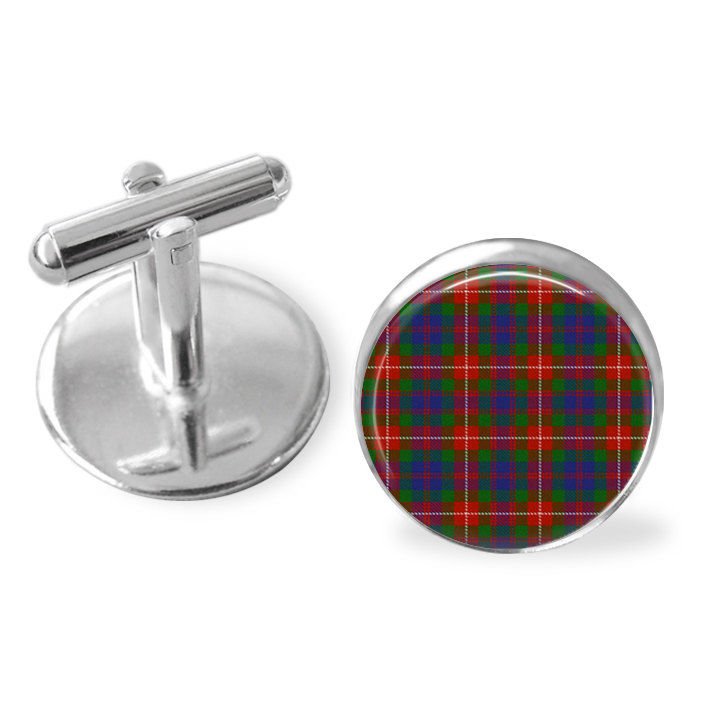 FRASER of LOVAT TARTAN Cufflinks / Scottish Tartan Cuff Links / Tartan Jewelry / Personalized Groomsmen Gift / Ancestral / Fraser Clan - product image